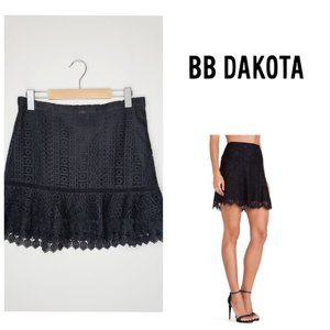 ANTHRO BB DAKOTA Black Lace Boho Trumpet Skirt